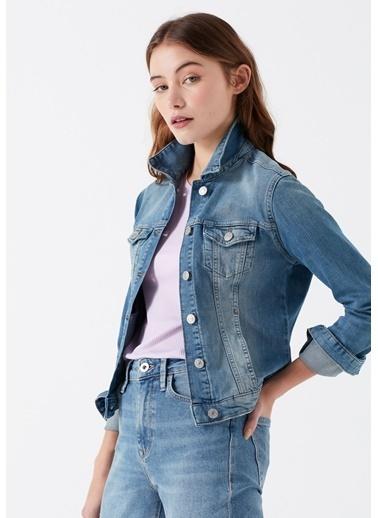 Mavi Jean Ceket | Daphne - Yarı Dar Kesim Mavi